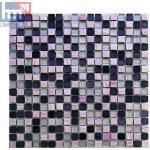 Glasmosaik Avellino Naturstein Mosaikfliese violett lila rosa Streifen Bad Kü...