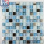 Glasmosaik Citulo Mosaikfliese Jeans Optik, silber, blau, weiß, hellblau für ...