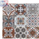 Glasmosaik Eboli Ornament Mosaikfliese weiß braun beige orange blau Bad Küche...