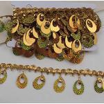 GLITZFAS 9m 6cm Pailletten Bänder Farbiges Glitzer Paillettenband für DIY Handwerk Bastelprojekte Tanzbekleidungen Armband Dekorationen (Gold)