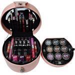 Gloss Make-up Schminkkoffer - Glam's pink - 33 teiliges, 1er Pack (1 x 1.04 kg) Geschenk-Box - Make-up Kit