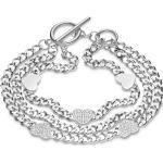 GMK Collection GMK Damen-Armband Edelstahl 39 Zirkonia Silber Silber 32012877