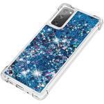 GOGME Hülle für Samsung Galaxy S20 FE 5G/4G Hülle, Handyhülle Samsung Galaxy S20 FE 5G/4G Glitzer Flüssig Treibsand Weich TPU Bumper Silikon Ultra Dünn Stoßfeste Schutzhülle, Blau