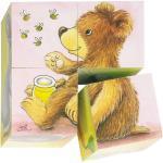 Goki Würfel-Puzzle 4 Teile - Tierkinder + 0,18€ Cashback auf Deine nächste Bestellung