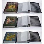 Goldhahn 3er Set - Antik - Alben 60 Schwarze Seiten Briefmarken für Sammler