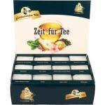 Goldmännchen Tee Selektion-Box, Zeit für Tee, 12 Sorten, 251g, 144 Teebeutel