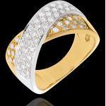 Goldring Ellipse mit 57 Diamanten - 0.8 Karat