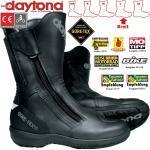 Schwarze Daytona Road Star Gore Tex Herrenstiefel mit Reißverschluss in Breitweite Wasserabweisend