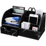 GORESE Multifunktionale Schreibtisch Organizer Aufbewahrung (Black Marble)