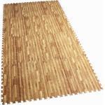 GORILLA SPORTS Bodenschutzmatte »Schutzmattenset mit acht Teilen Holzoptik« (Set), Flexibel erweiterbar, hemmt Erschütterungen bis 200 kg