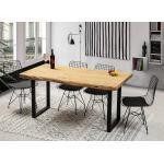 Gozos Esstisch »Baumkantentisch, Holztisch Esszimmer & Wohnzimmer aus massiven Baumstamm Holz - Handgefertigt aus Echtholz - Tisch mit massiver Tischplatte 50mm«