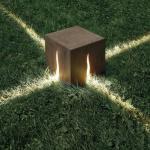 Granito Bodenleuchte H 60 cm - für den Außeneinsatz - Artemide - Braun