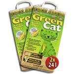 Green Cat 2x24 =48 Liter GREENCAT NATURSTREU ÖKO-Plus S KATZENSTREU - Best STREU innerhalb Deutschlands (außer Inseln)