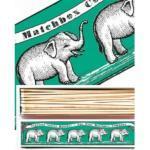 Green Elephant Matchbox Lange Streichhölzer