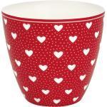 Greengate Becher » Latte Cup PENNY Rot mit Herzen«