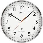 Große Funk Wanduhr Küchenuhr Funkgesteuert 39 cm Weiß - 4499/0