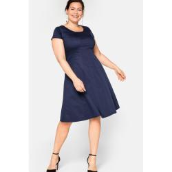Marineblaue Elegante Sheego Abendkleider mit Reißverschluss für die Braut für Damen Übergrößen Große Größen für den Winter