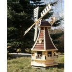 Große Windmühle 1,30 m braun/natur Typ 3.1