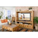 Großer TV-Schrank Fernsehschrank, versenkbare Türen, original MEXICO Möbel, Pinie massiv