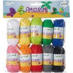 Gründl Amigurumi - Set I Wolle, Baumwolle, bunt, 19.5 x 18 x 2.6 cm