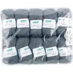 Gründl Cotton Fun Strickgarn/ Häkelgarn (weiches Garn aus 100% Baumwolle , OEKO-TEX zertifiziert, 50 g/115 m, Nadelstärke: 3-4, 1 Knäuel á 50 g), Anthrazit