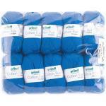Gründl Cotton Fun Strickgarn/ Häkelgarn (weiches Garn aus 100% Baumwolle , OEKO-TEX zertifiziert, 50 g/115 m, Nadelstärke: 3-4, 1 Knäuel á 50 g), Royalblau