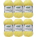 Gründl Cotton Fun Wolle Set 6x 50 Gramm Mimose 22 aus 100% Baumwolle