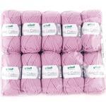 Gründl King Cotton, 1 Packung à 10 x 50 g Knäuel Handstrickgarn, 55% Polyacryl, 45% ägyptische Baumwolle, Rose, 28 x 31 x 7 cm, 780