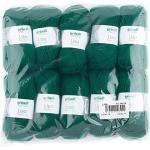 Gründl Lisa Premium Uni Strick- & Häkelgarn (weicher und wollartiger Charakter, pflegeleichtes Strickgarn aus 100% Polyacryl, 50 g/ 133 m, Nadelstärke: 3,5 - 4,5, 10 Knäuel á 50 g), Tannengrün