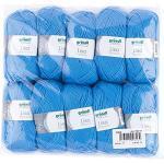 Gründl Lisa Premium Wolle, Polyacryl, mittelblau, 133 m, Nadelstärke 3,5- 4,5, 10er Pack