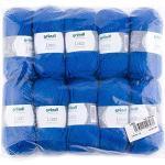 Gründl Lisa Premium Wolle, Polyacryl, royalblau, 133 m, Nadelstärke 3,5- 4,5, 10er Pack