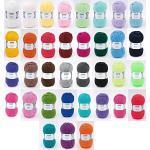 Gründl Lisa Premium Wollset + 1 Hdk-Versand Mützenlabel (Keine Farbauswahl möglich) (20x50 Gramm Bunt gemischt)