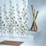 Grund Duschvorhang Bambu weiss/gruen/weiss 180x200 cm