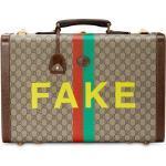 """Gucci Mittelgroßer Koffer mit """"Fake/Not""""-Print - Nude"""