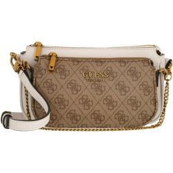 Guess Crossbody Bags - Mika Double Pouch Crossbody - in braun - für Damen