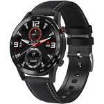 GULU DT95 Smartwatch Männer IP68 wasserdichte Bluetooth-Anruf 360 360 EKG-Wärmefrequenz 1.3Inch TFT-Schlafmonitor VS L16 Smart Watch,F