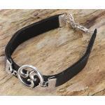 Guru-Shop Armreif »Ethno Triskele Armband - schwarz«