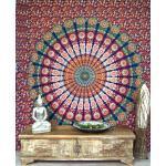 Guru-Shop Tagesdecke »Boho-Style Wandbehang, indische Tagesdecke..«, rot
