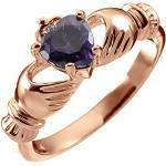 Purpurne Claddagh Ringe für Damen