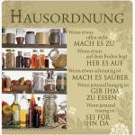 """H&H Romantisches Geschirrtuch """"Hausordnung"""" Handtuch"""