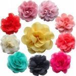 Haarblume Haarblüte Ansteckblume Chiffon Haarclip Auf Der Rückseite - 20 Farben Zur Wahl