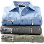 Hajo Langarm-Poloshirt, grau, grau