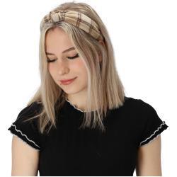 halsüberkopf Accessoires Haarband »Haarband Karo«, 1-tlg., modisches Haarband, natur, beige