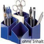 Han Tisch-Organizer 17450-14, SCALA, Kunststoff, 4 Fächer, blau