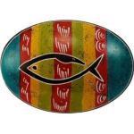 Handschmeichler bunt mit Fisch, türkis/rot/gelb/grün/rot