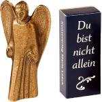"""Handschmeichler Schutzengel """"Du bist nicht allein"""" Bronze Figur Original Handarbeit Maria Laach 801051/7"""