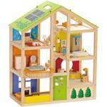 Hape Puppenhaus Vierjahreszeiten, inkl. Puppenmöbel bunt Kinder Ab 3-5 Jahren Altersempfehlung