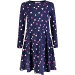 happy girls A-Linien-Kleid »Happy girls Kleid Langarm bunte Herzen navy blau« (1-tlg)