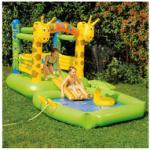 HAPPY PEOPLE Hüpfburg+Pool Giraffe mit Sprühfunktion Wasserspielzeug Mehrfarbig