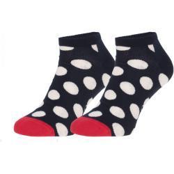 Happy Socks Low Socken Blau & Weiß mit Punkten